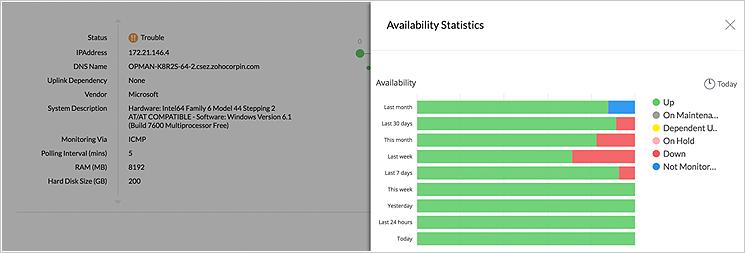 Monitorowanie dostępności i kondycji serwera